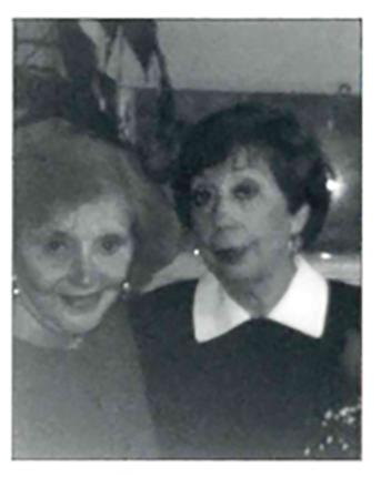 Vera Spitz Herz (left) and her friend Agnes Kohn Helfman, reunited after more than fifty years.