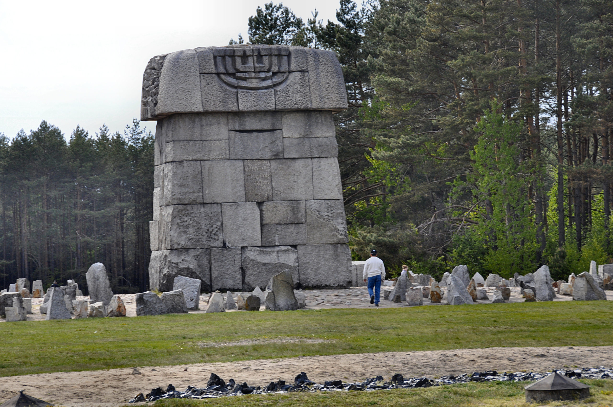 Holocaust Memorial at the Treblinka extermination camp, constructed on the site of the gas chambers. Photo courtesy of Michael Leibson.