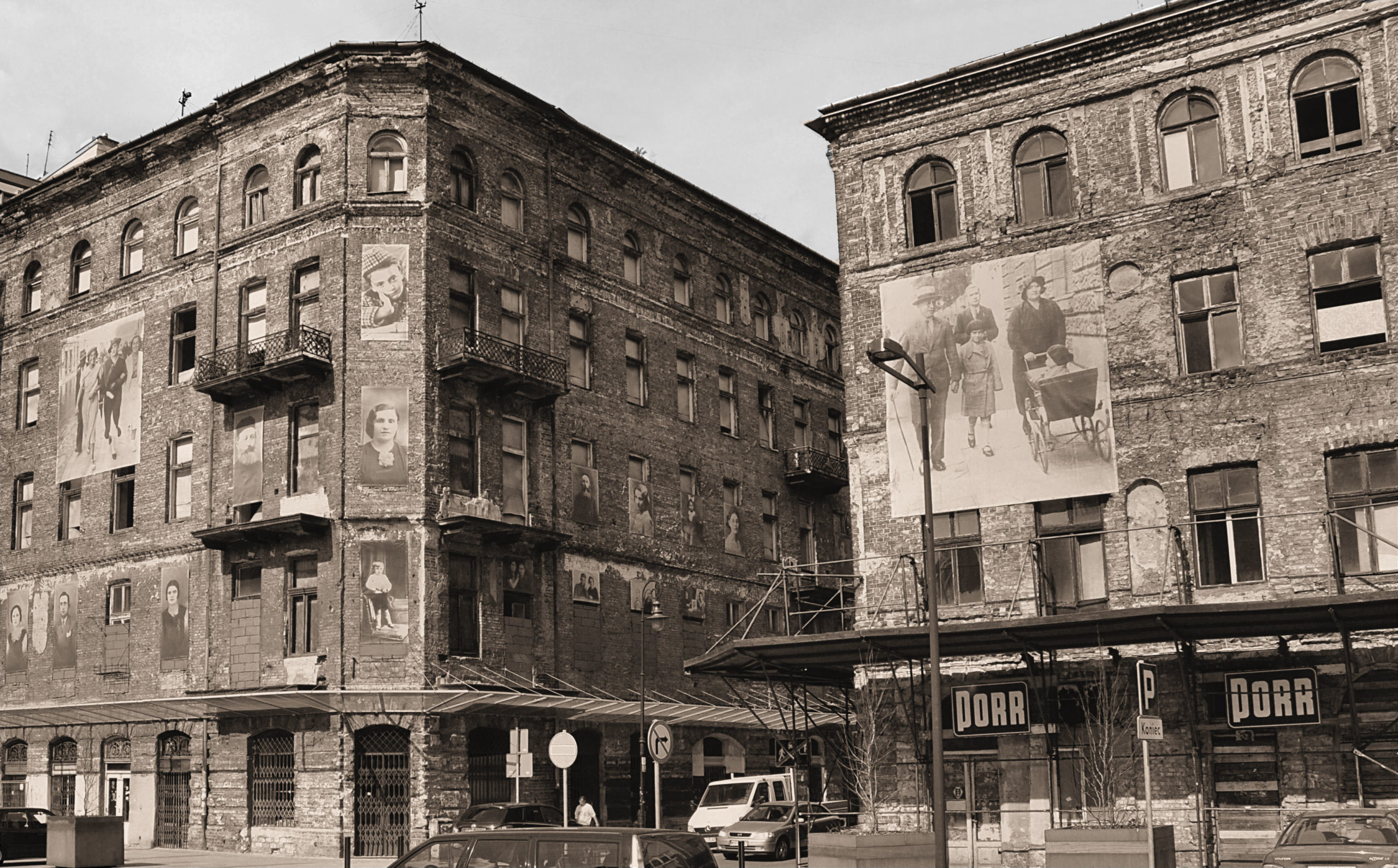 Surviving buildings from the Warsaw Ghetto. Photo courtesy of Michael Leibson